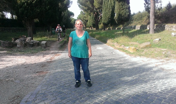 Week 44: yours truly on the Via Appia, looking oddly foreshortened